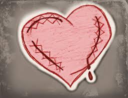 sewn heart